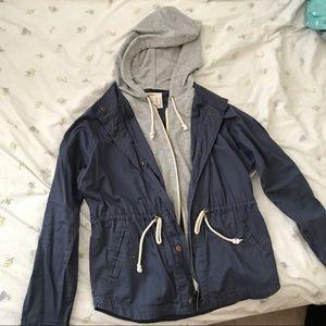Blue Utility Featuring Grey Jacket Trim